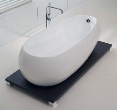 Acrylic Bathtub On Wenge Stand New Illusion By Calyx