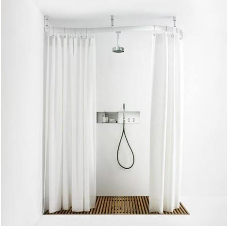 shower curtain rail from agape design