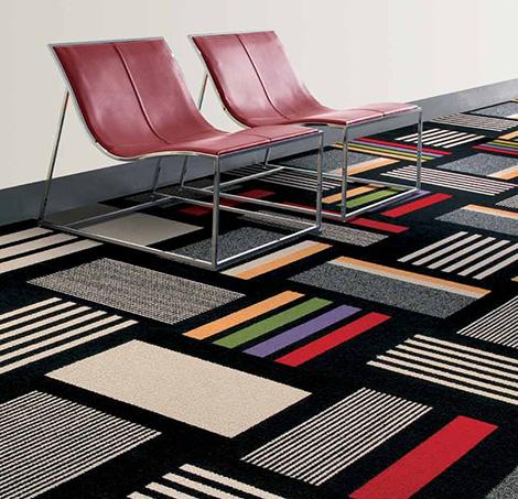 modular decorative floor carpet tile by