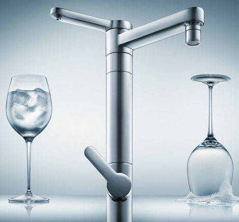 drinking water faucet in stainless