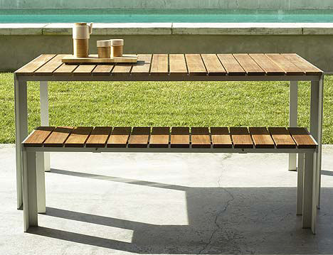 Contemporary Outdoor Dining Table From Design Within Reach The Deneb Patio Table