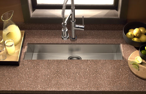 houzer zero radius undermount trough