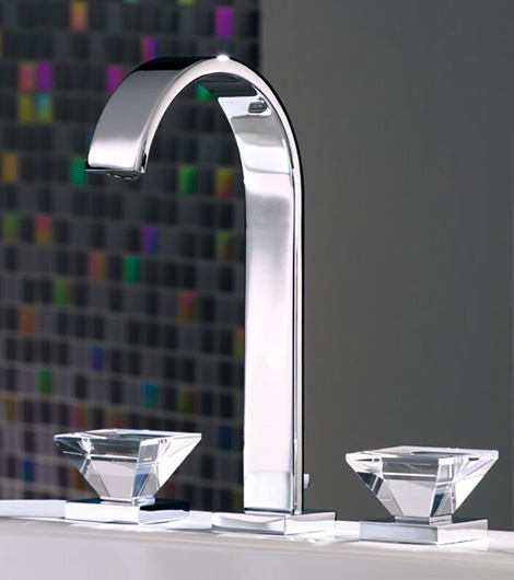 luxury faucets with crystal glass