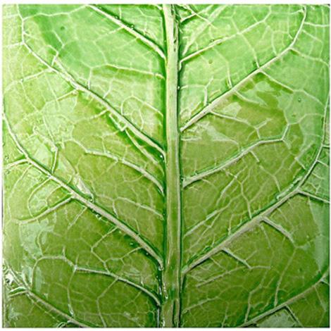 nature inspired ceramic tile leaves