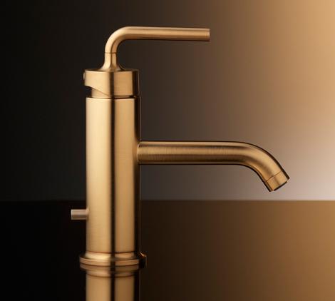 brushed gold bathroom faucets by kohler