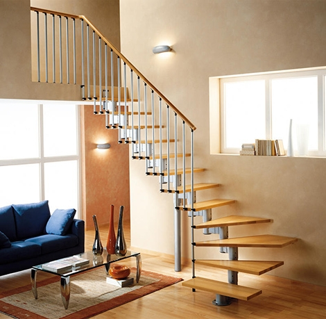 House Staircase Design Guide 5 Modern Designs For Every Occasion   Wood Stairs In House   Reclaimed Wood   Natural Wood   Residential   Minimalist   Basement