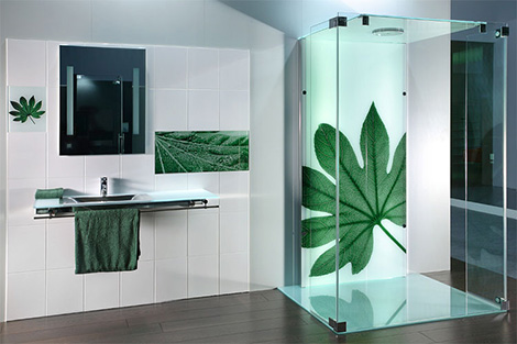 printed glass tiles and printed shower