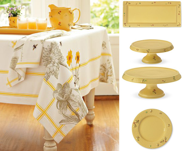Honey Bee Tableware And Bee Tablecloth By Williams Sonoma