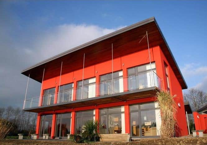Red Exterior Homes Paint The Town
