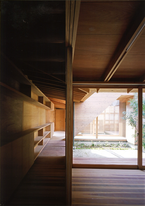 Japanese Wooden Houses Courtyard Multi Level Decks And A