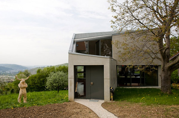 Unusual Concrete House Plan