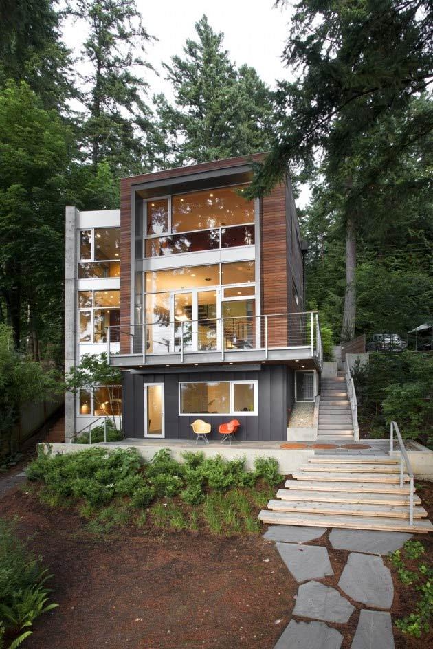 Small Footprint, Soaring Stature: Modern vertical house ...