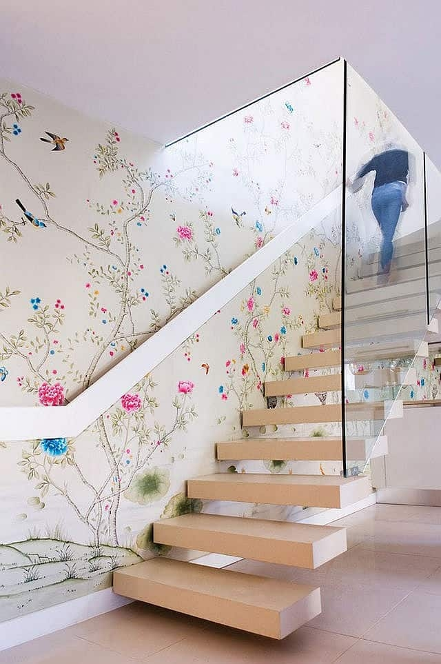 Colorful Staircase Designs 30 Ideas To Consider For A Modern Home   Stair Wall Colour Design   Wood Wall   Before And After   Room Wall   Hall Colour Combination   Family