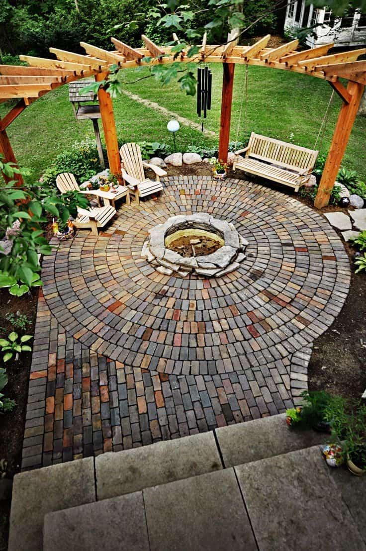 stone fire pit designs backyard diy