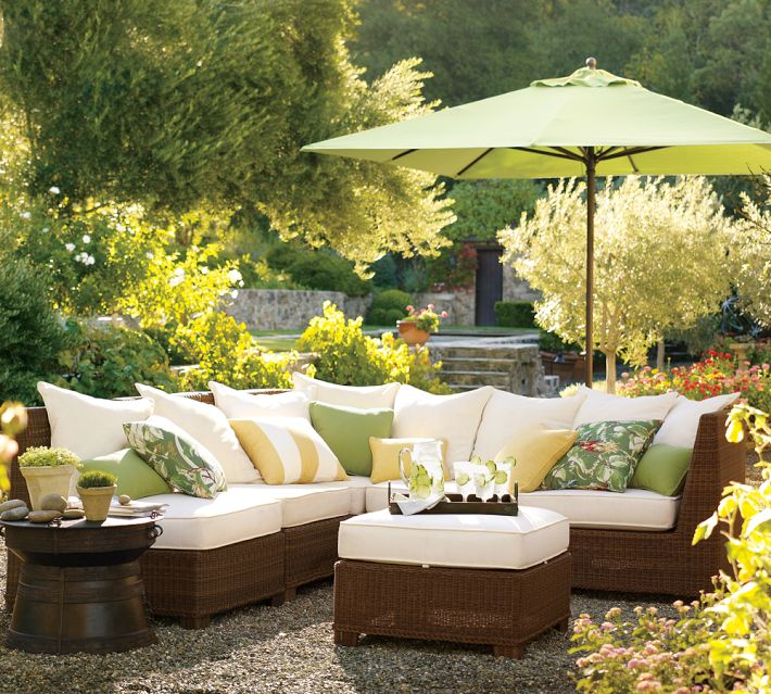 palmetto sectional by pottery barn