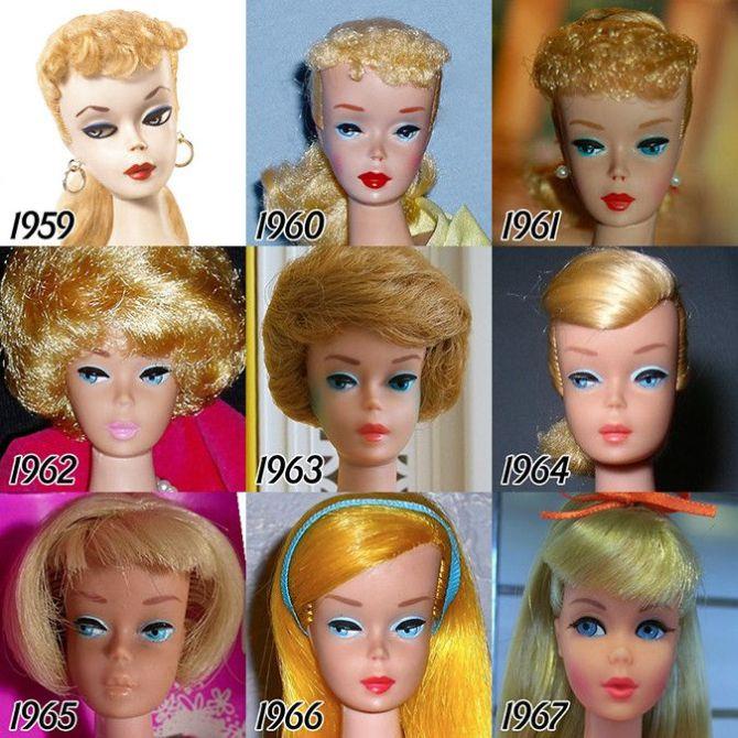 1959-2015 yılı Barbie Bebekleri (6 Fotograf)