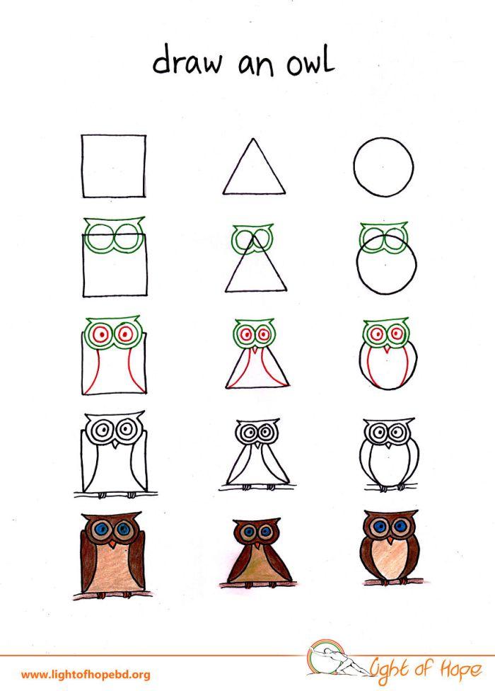 Basit Şekillerle Hayvan Resimleri Nasıl Yapılır? (10 Resim)