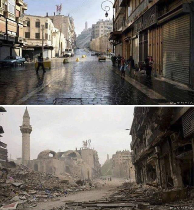 Savaş öncesi ve sonrasında Halep (30 Fotograf)