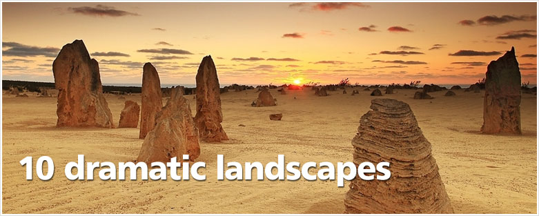10 dramatic landscapes
