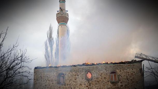 Brand in Moschee in Griechenland