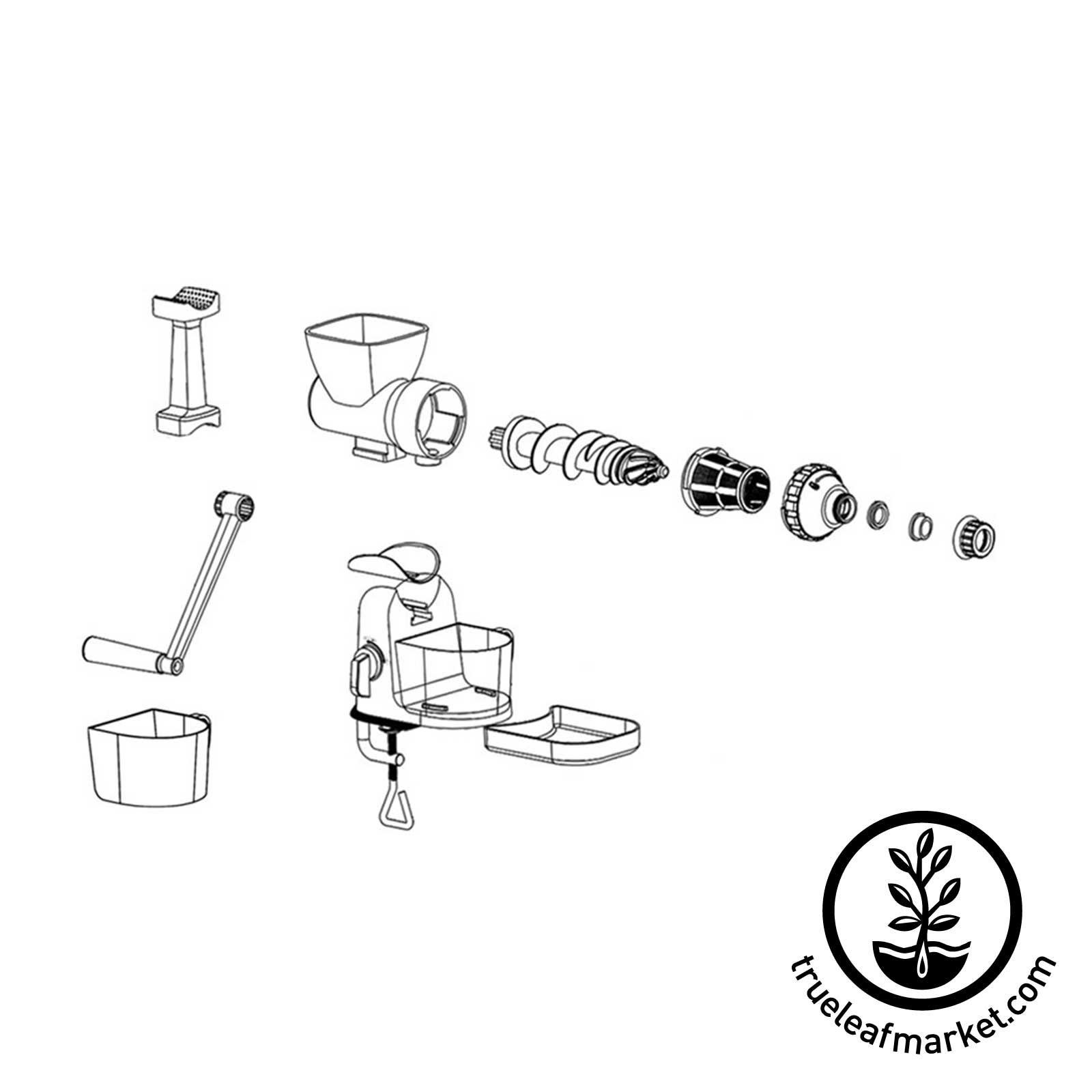 Typhoon Manual Wheatgrass Juicer Hand Crank Juice Extractor