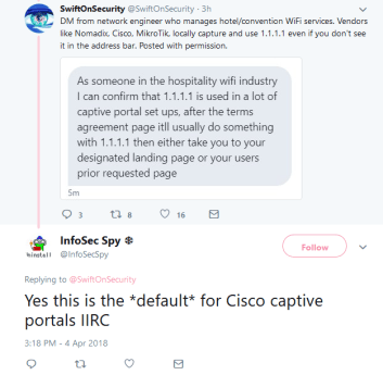 Swift Does Security on Twitter talking about CloudFlare