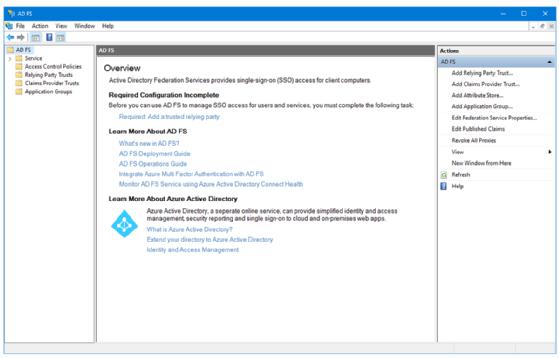 Konfigurieren von Active Directory-Verbunddiensten