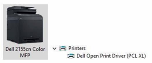 Ein Druckertreiber für einen Dell-Drucker.