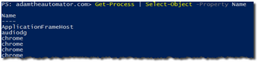 Select-Object mit Get-Process in PowerShell.