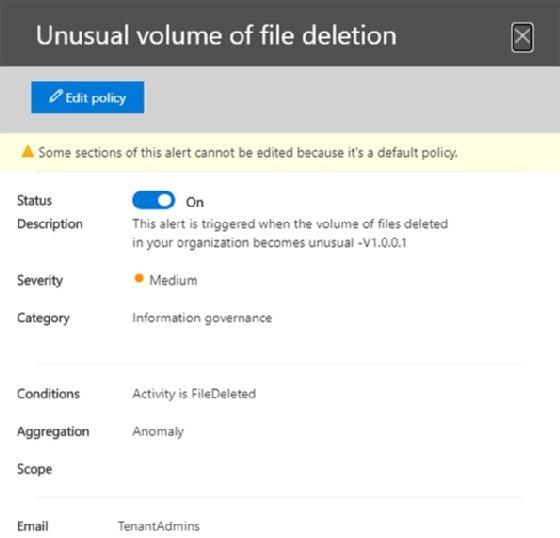 Office 365-Warnungen