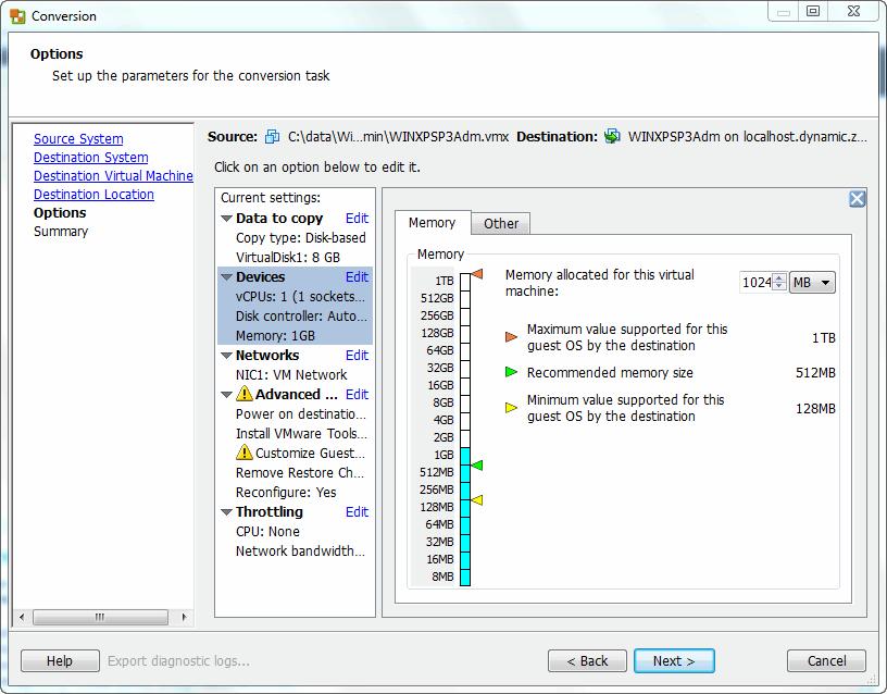 vCenter Converter