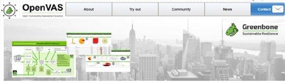 Captura de tela do OpenVAS