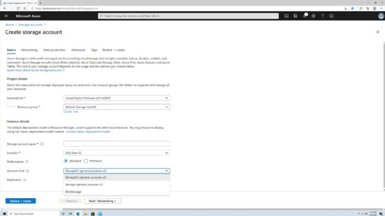 Azure Files-Speichertypen.