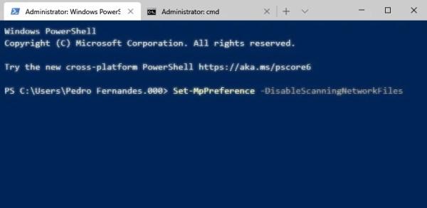 linha de comandos windows