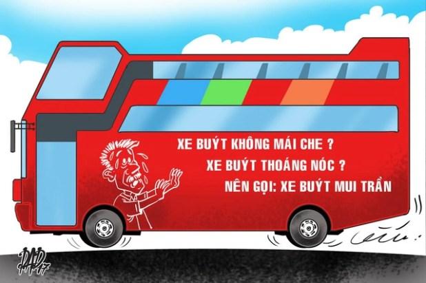 Xe buýt thoáng nóc, không mái che thì cứ gọi xe buýt mui trần đi! - Ảnh 1.