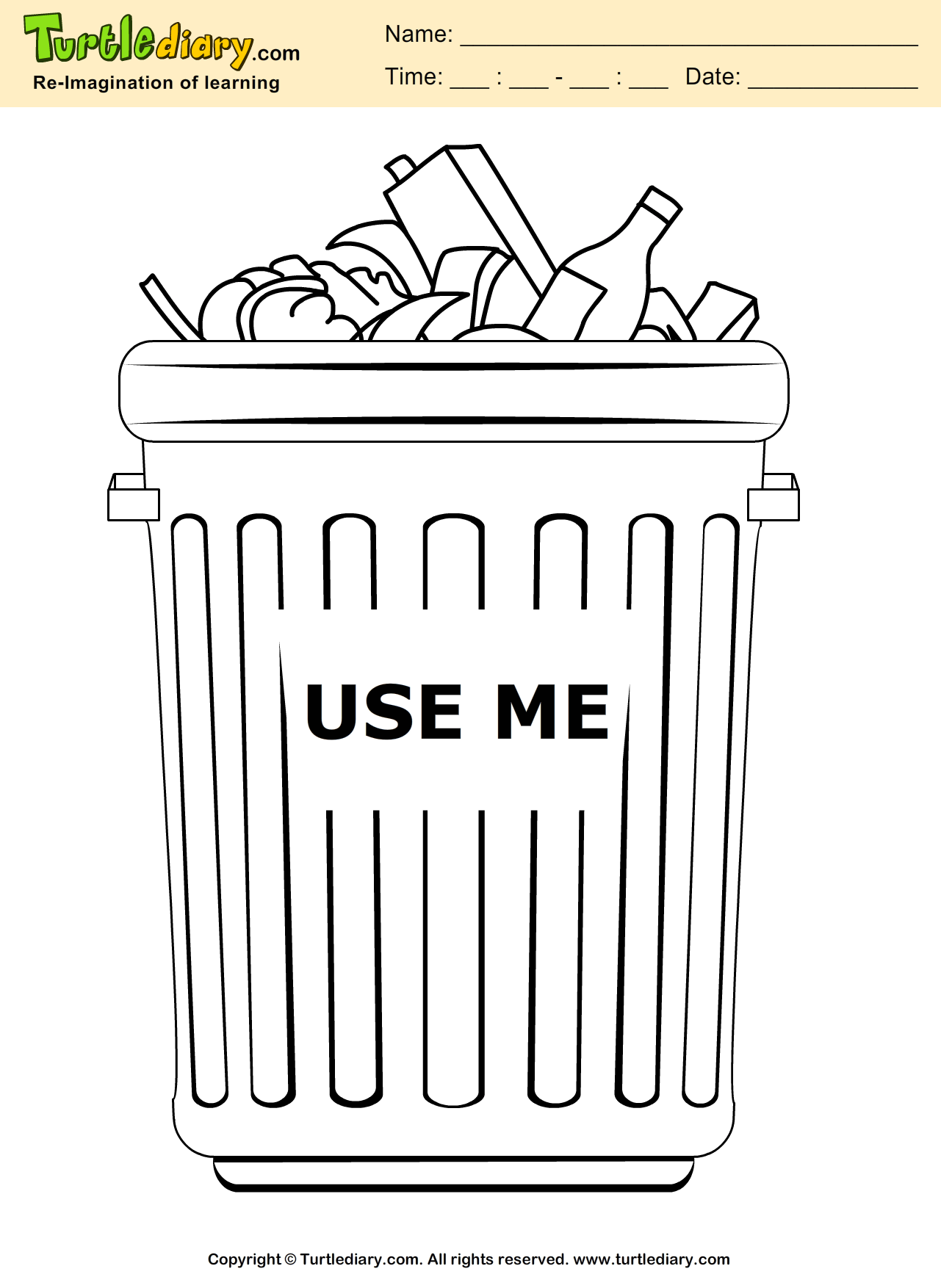 Recycle Coloring Sheet