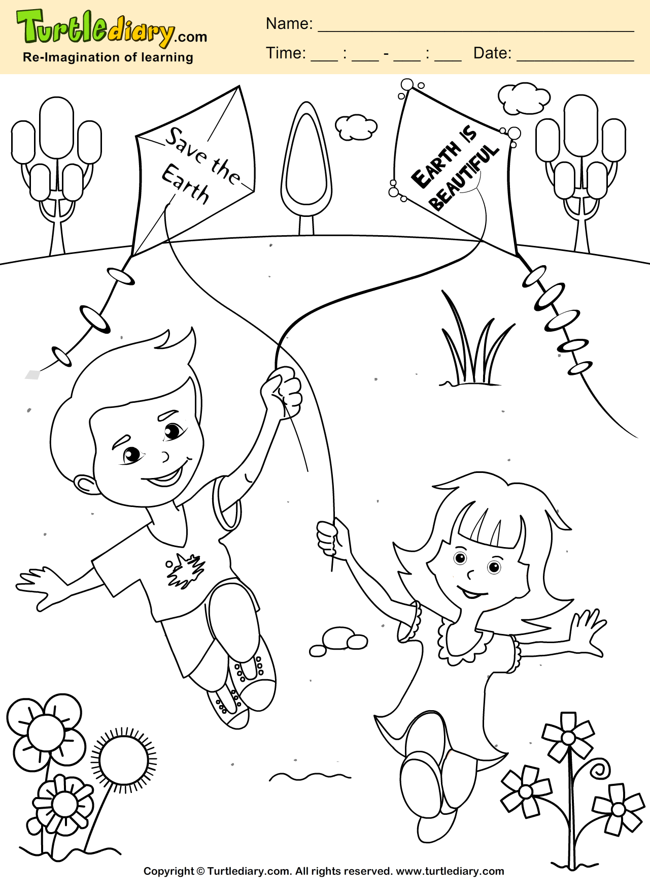 Save The Earth Coloring Sheet