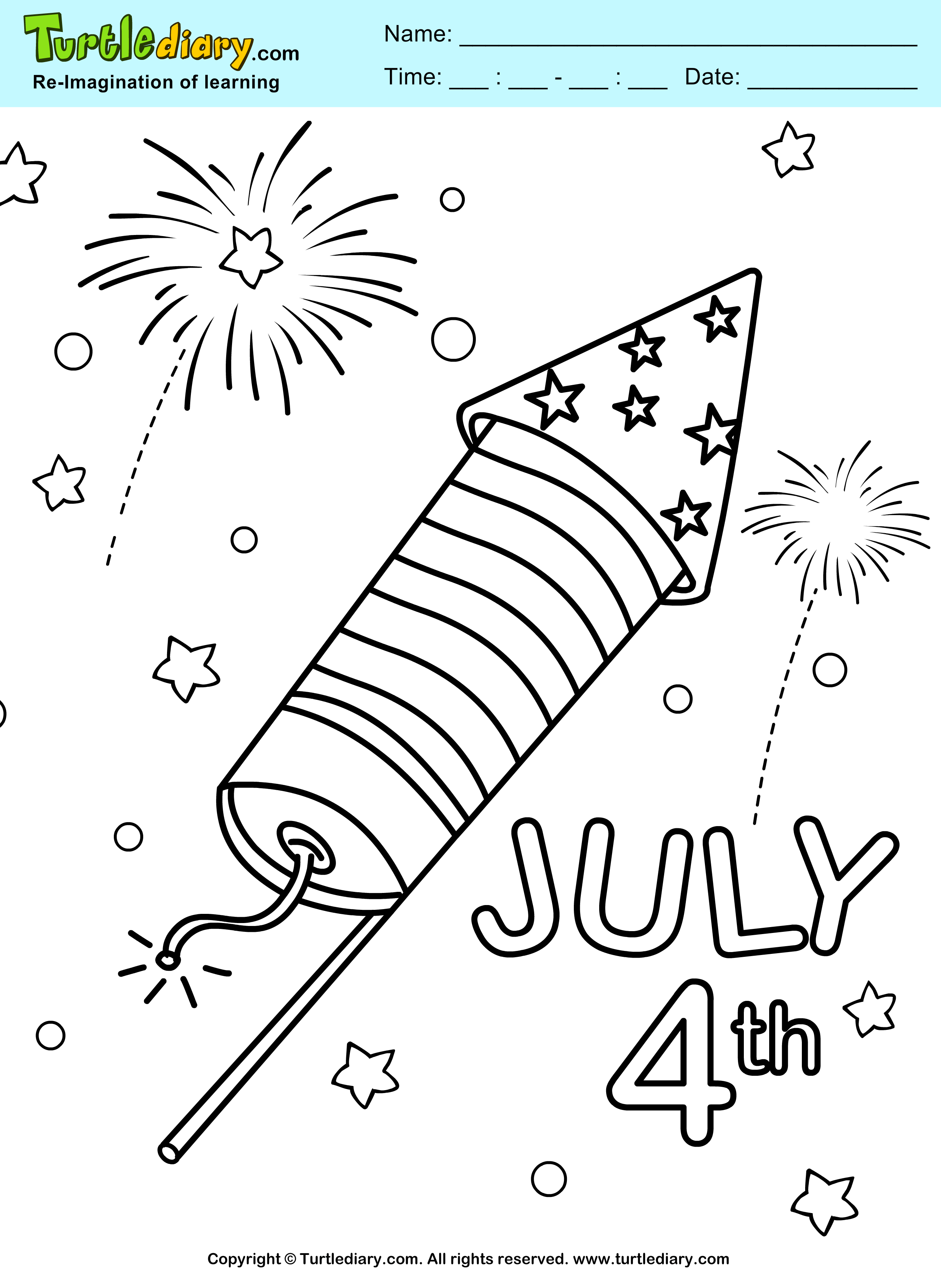 4th Of July Worksheet Kindergarten Games
