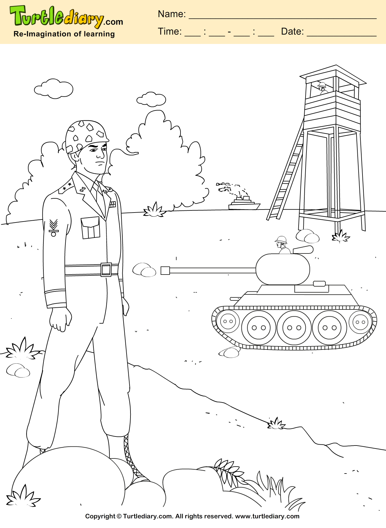 Army Coloring Sheet