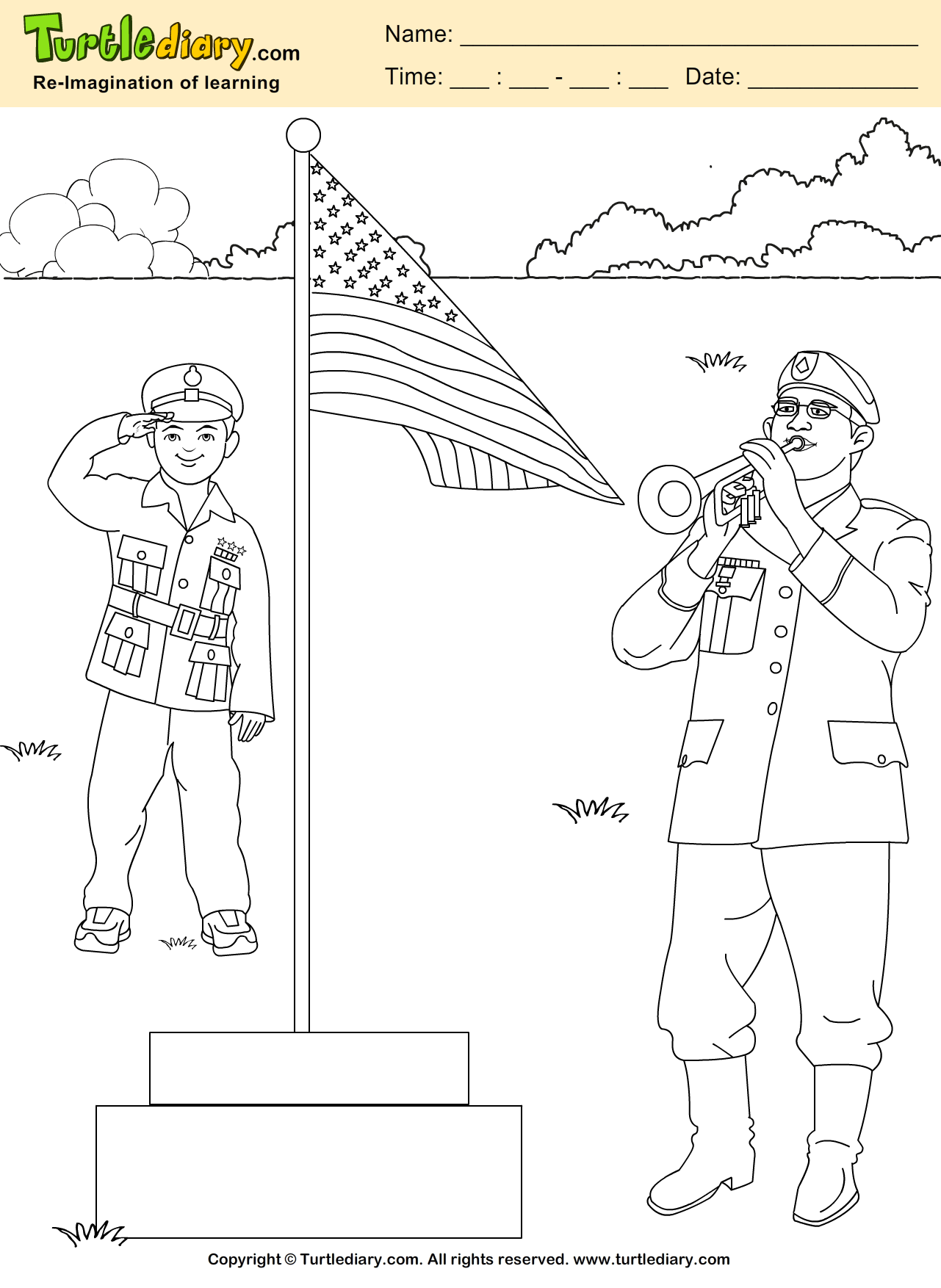 Patriotic Coloring Sheet