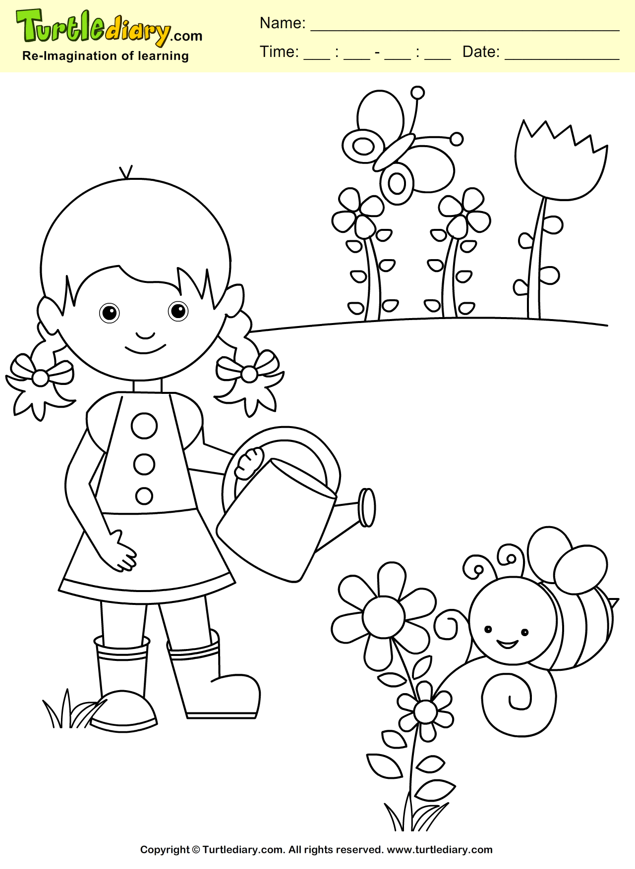 20 Ideas For Gaden Week Preschool Coloring Sheets