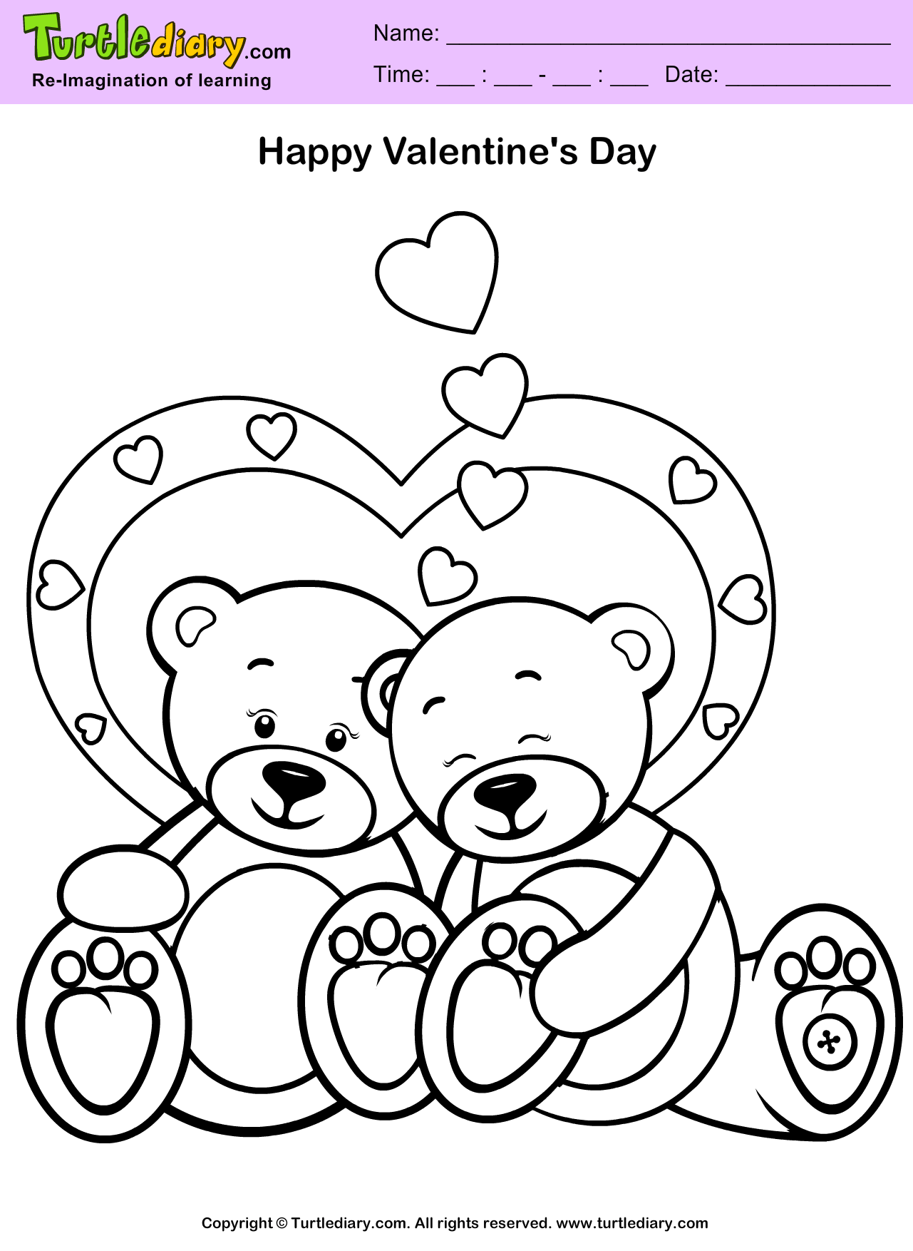 Teddy Bear Coloring Worksheet