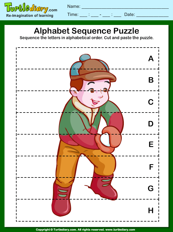 Alphabet Sequencing Worksheet