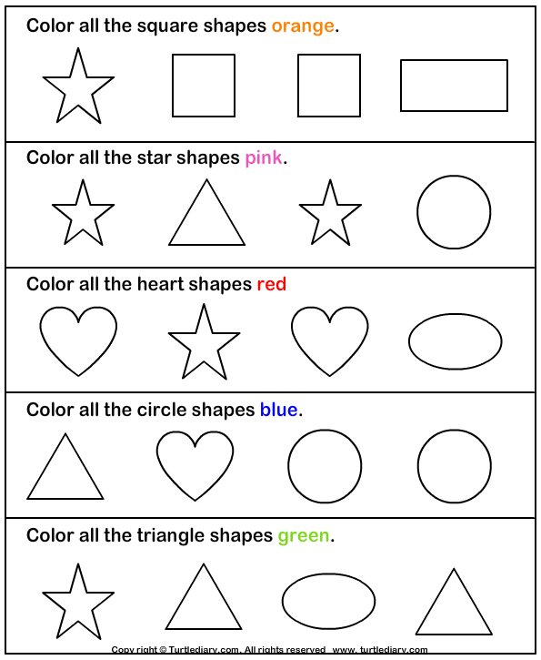 Shapes Coloring Pages For Kindergarten. number coloring pages 1 10 ...