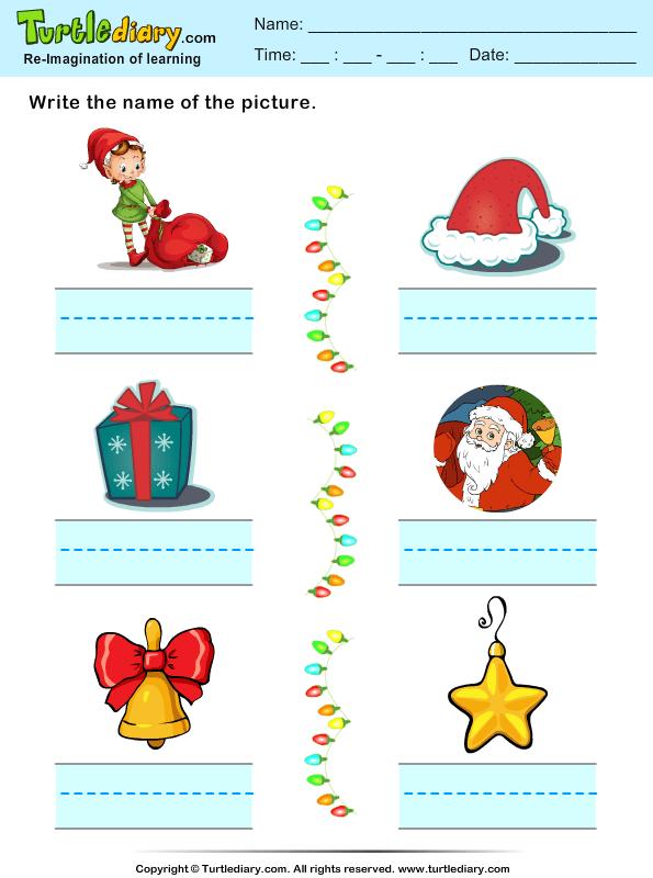Christmas Spelling Words Worksheet