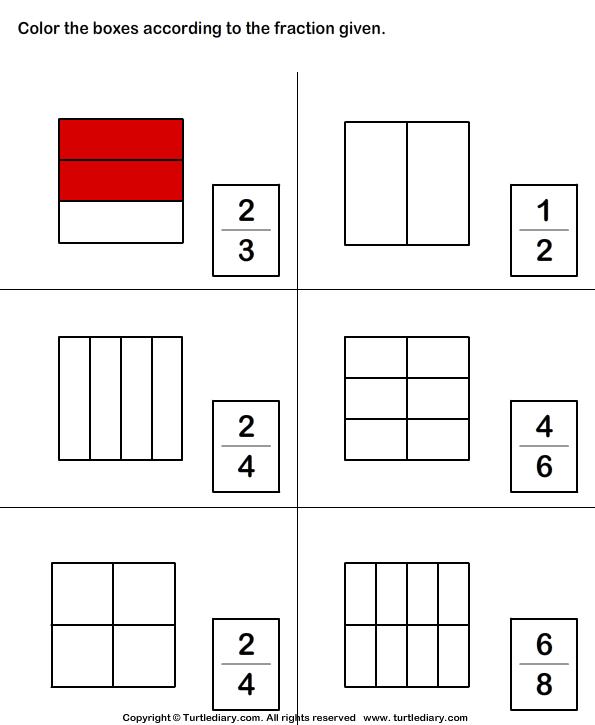 Coloring Parts Of Shapes Worksheet