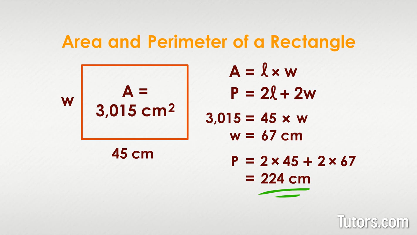 Area And Perimeter Video Formulas For Rectangles