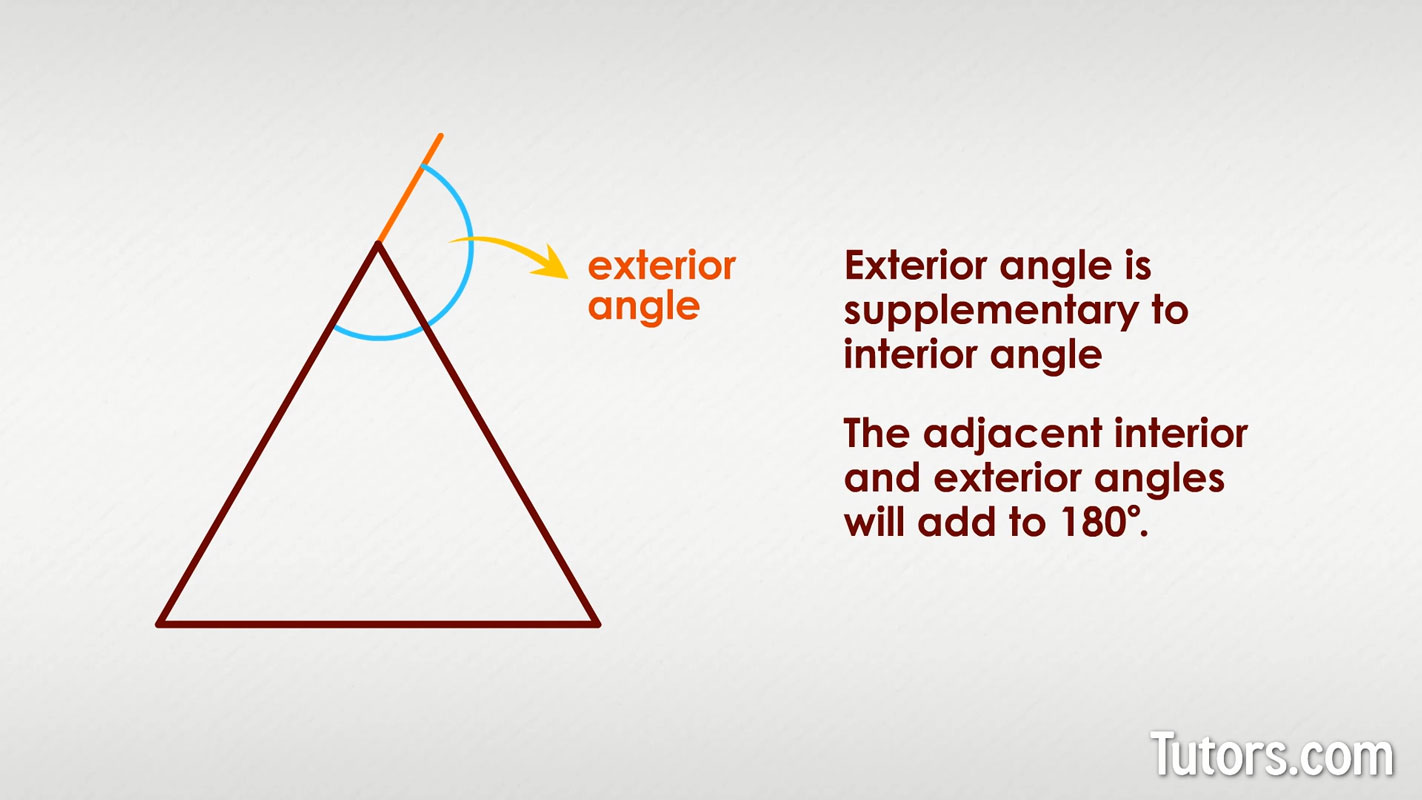 Interior Interior And Exterior Angles Of A Triangle Worksheet