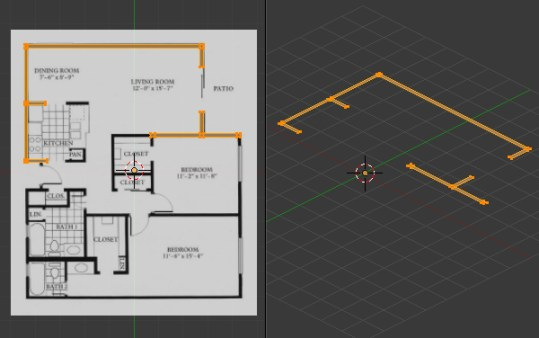 Create A 3D Floor Plan Model From An Architectural Schematic In Blender Free Blender Tutorial Create A 3D Floor Plan From An Architectural Schematic