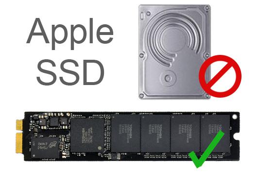Apple utilise un SSD propriétaire de type puce dans ses ordinateurs portables, et non le 2.5 commun